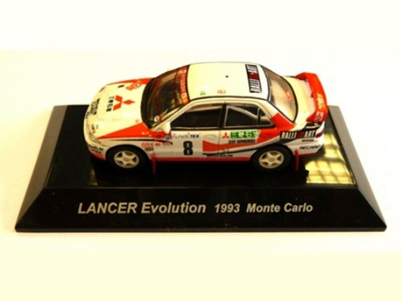 WOW EXTREMELY RARE Mitsubishi Lancer Evo1 M.Carlo 1993 WRC 1 64 CM's Kyosho