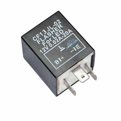 3 PIN CF13 JL-02 Fix Flash Rate Turn Indicator Signal Flasher Relay LED Bulbs
