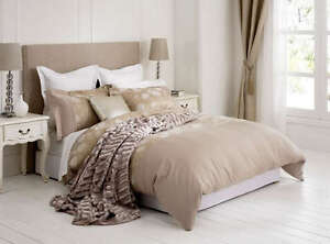 New-Amelie-Gold-Luxury-Jacquard-QUEEN-Size-Quilt-Doona-Cover-Set