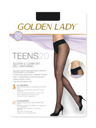 Collant Golden Lady Teens 20 a vita bassa con comode cuciture e punta invisibile