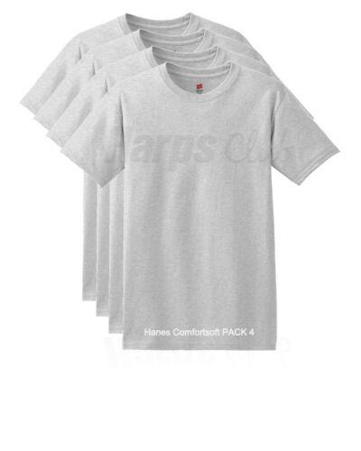 Hanes ComfortSoft® Men/'s Short-Sleeve Crewneck T-Shirt 4-Pack