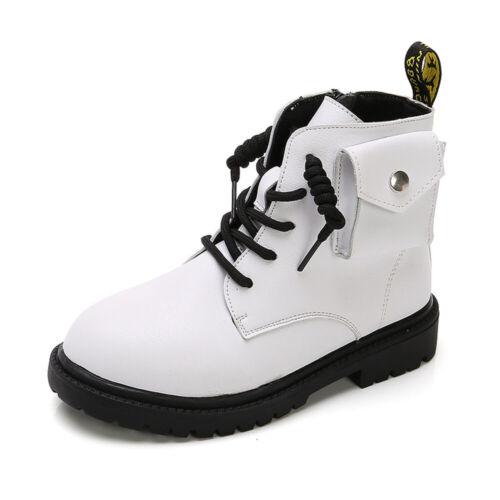 Little Big Kids Boys Girls Winter Biker Ankle Boots Casual School Shoes Toddler