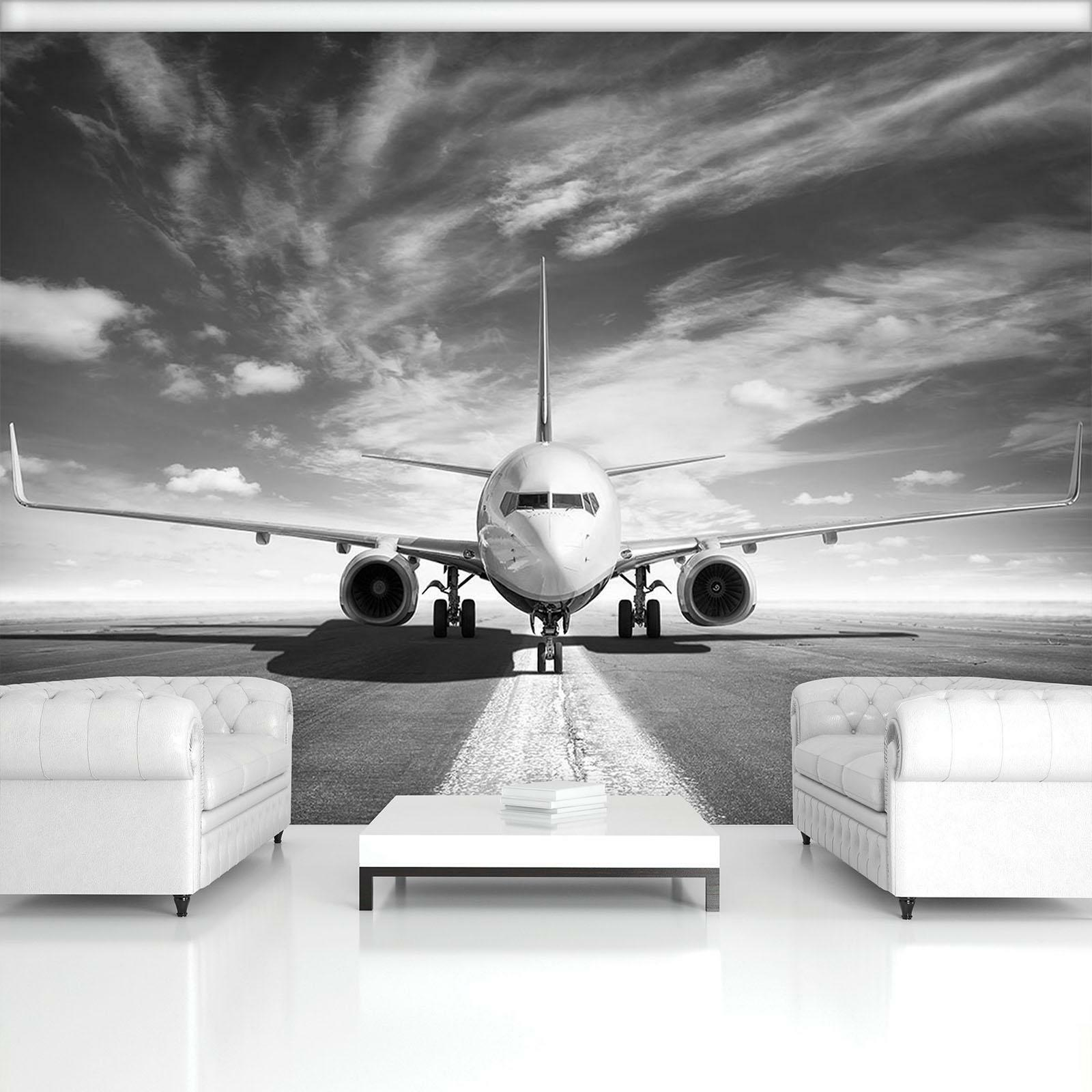 Photo Wallpaper Mural  11386_P Airplane Airplane Airport Sky Transportation Clou
