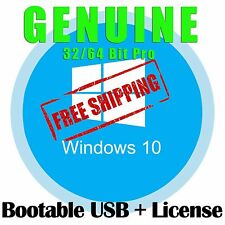 Microsoft Windows 10 Pro License Key with Bootable USB Stick WIN 10 Ten 32 64