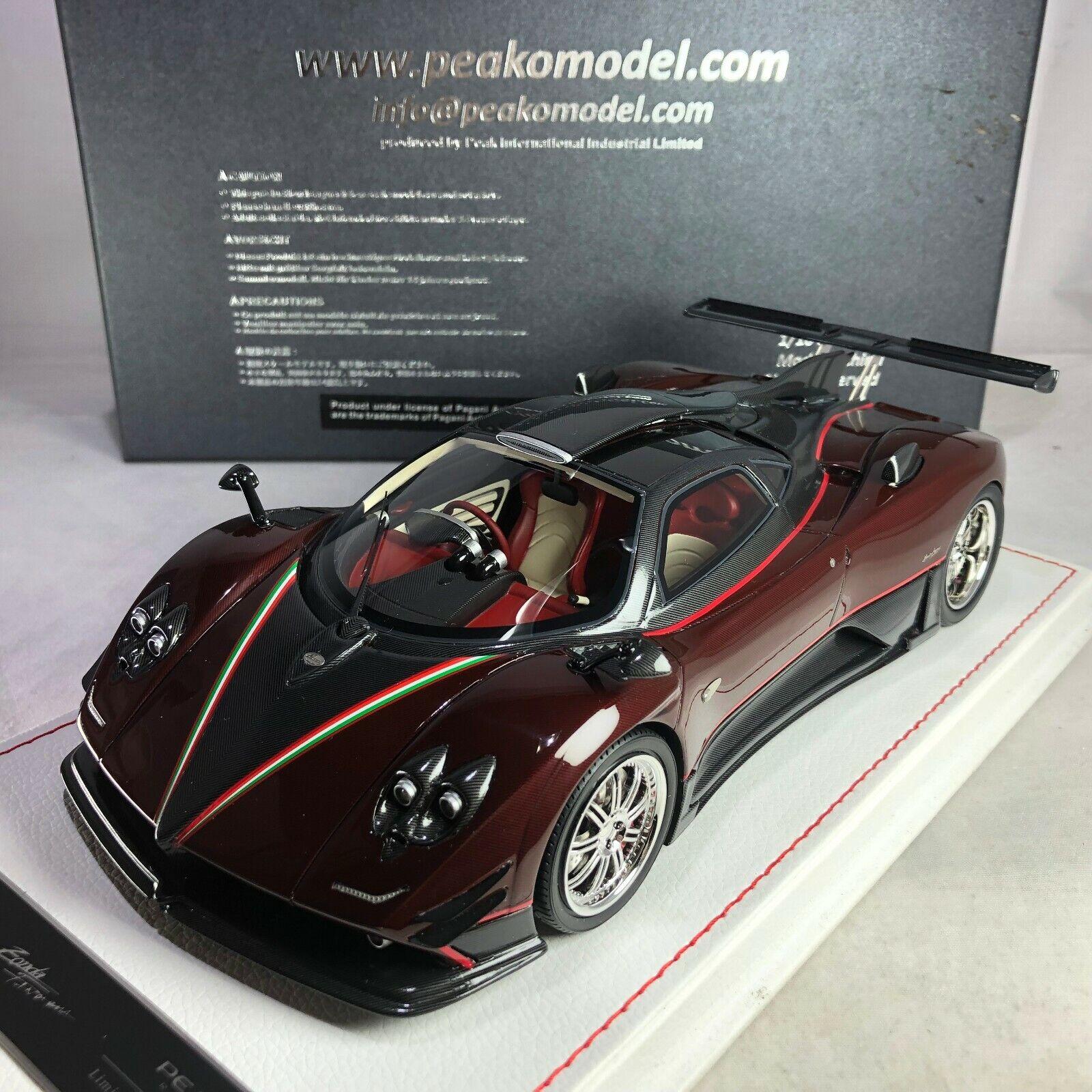 1/18 Peako Pagani Zonda 760 Fantasma Red Carbon Ltd 03 / 50 pcs 81500