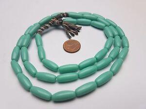 Strang 70 cm gestreifte böhmische Afrika Glas Perlen 8 mm