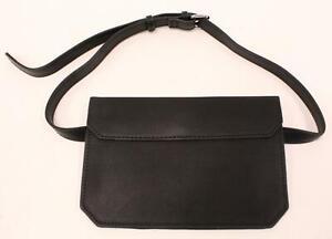 fbb42dbd3d Details about ASOS Women's Faux Leather Adjustable Flat Bum Belt Bag SH3  Black Small