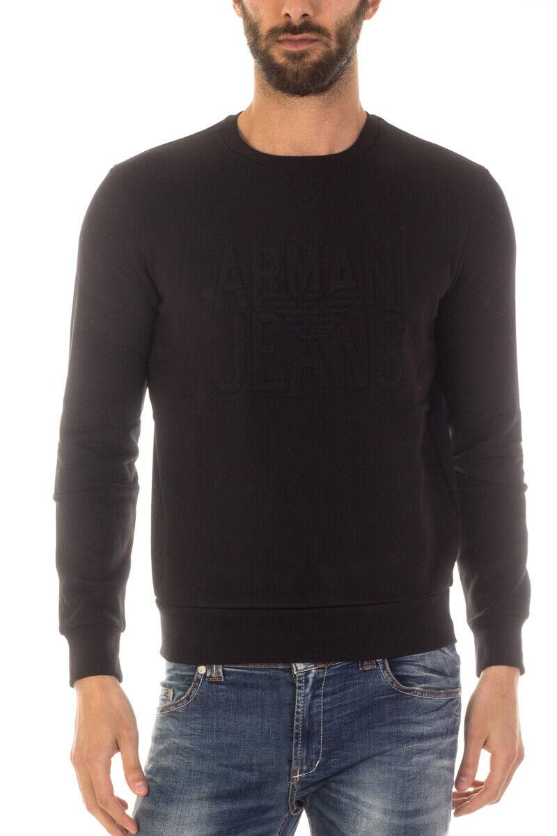 Armani Jeans AJ Sweatshirt Hoodie Man Black 6X6M266JPAZ 1200 Sz. M PUT OFFER