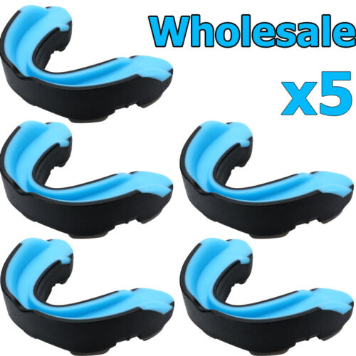 5x Gel Gum Mouth Guard Teeth Grinding Boxing Sports Gym MouthPiece Shield Case