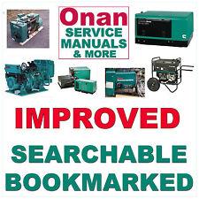 ONAN 2 & 4 Cylinder Engine P220G T260 P218G F930 F910 JD Service Shop Manual CD