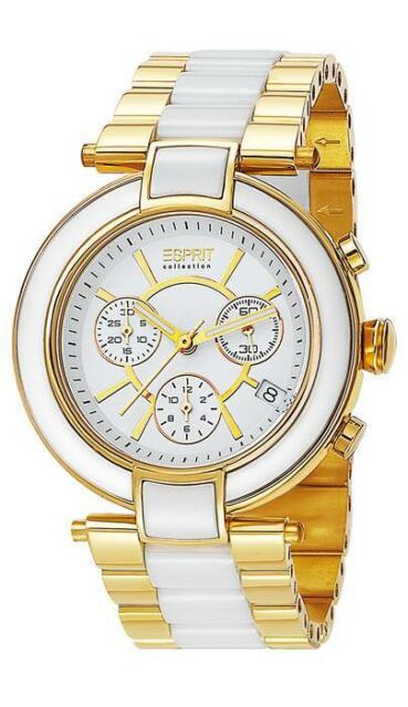 Esprit Collection Damenuhr Physis Gold EL101582F04 Analog Chronograph Edelstahl,