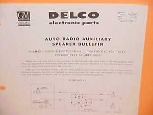 1956 1957 pontiac star chief chieftain delco radio rear speaker rh ebay com 1959 Pontiac 1959 Pontiac