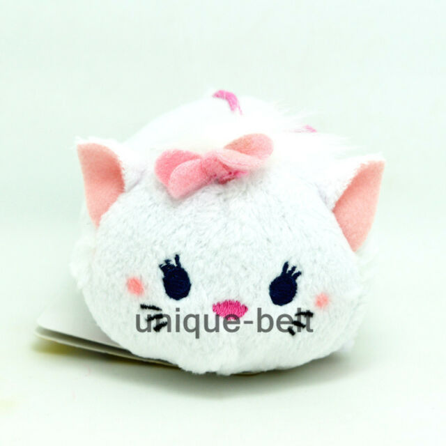"3.5"" New Marie Cat White Tsum Tsum Stuffed Plush Toy Doll Screen Wipe"