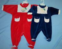 Baby Goods Baby Velour Playwear Sizes: 9-24 Mos Wholesale 6 Pcs (e01084pw)