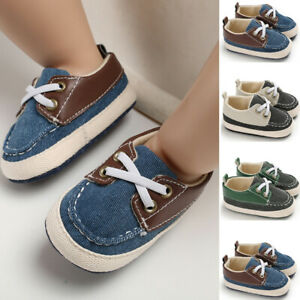 Infant-Baby-Boys-Girls-Pre-Walker-Soft-Sole-Pram-Shoes-Canvas-Sneakers-Trainers