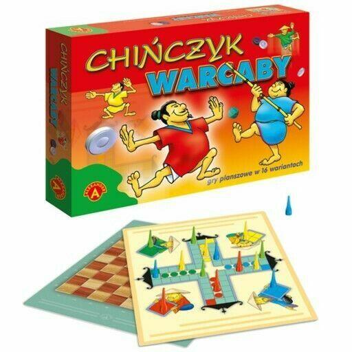 CHINCZYK warcaby POLSKA GRA planszowa 16 wariantow OD Reki UK