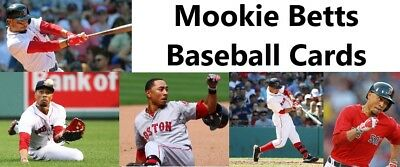 You Pick Your Card Mookie Betts Boston Red Sox Baseball Card Selection Ebay