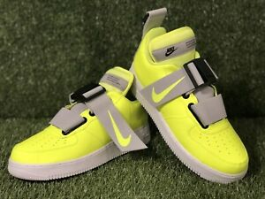 Details about Nike Air Force 1 Utility Yellow WhiteBlack Shoes AO1531 700 Men's size 9.5 11