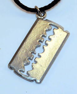 Necklace-Dimebag-Darrell-Pendant-NEW-RARE-Pantera-Diagonal-Razor-Blade