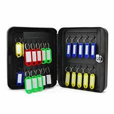 Jolitac 40 Key Cabinet Steel Security Lock Box Wall Mount Keys Storage Box An