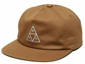 Huf Worldwide Cap Camp Snapback Dad Hat Unstructed Triple Triangle Toffee