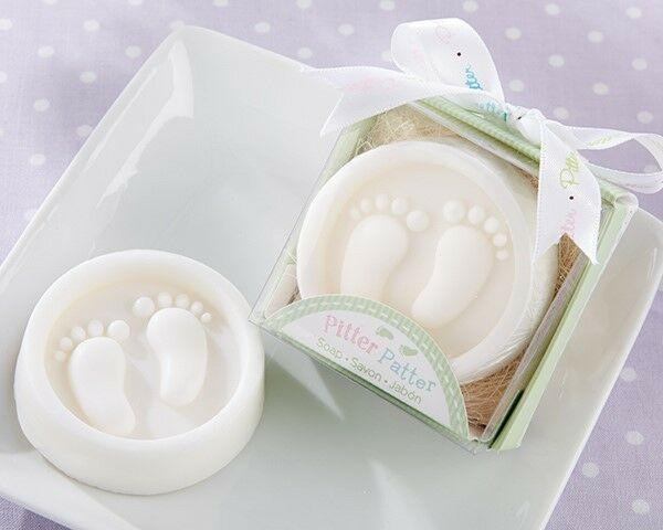 25 Pitter Patter Footprint Soap Baby Shower Christening Party Gift Favors