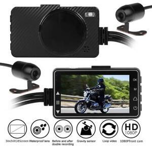 Waterproof-Motorcycle-DVR-Front-Rear-View-Dual-1080P-Camera-Recorder-No-interval
