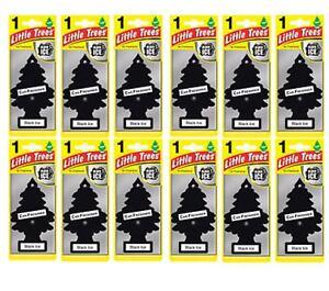 12 x Black ICE Scent Magic Tree Little Trees Car Home Air Freshener Freshener 7435635615603