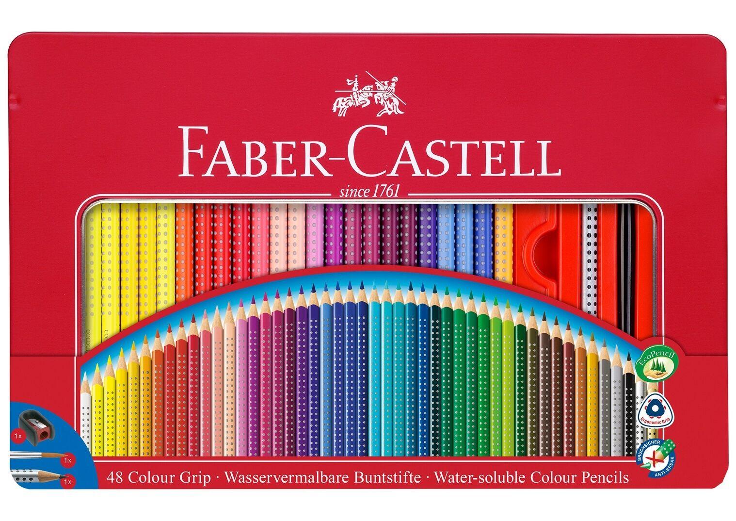 Faber-Castell Buntsitfte Farbe GRIP 48er Metallbox | Kostengünstig  | Angemessene Lieferung und pünktliche Lieferung  | Förderung