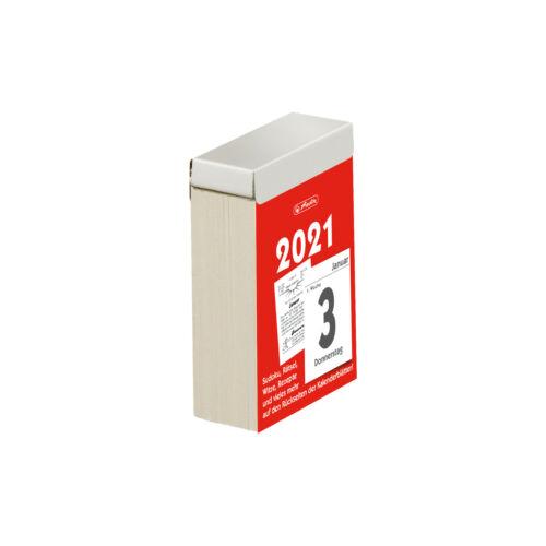 herlitz Tages-Abreißkalender Nr 3 2021 5,5x8 cm 1 Tag pro Seite  Tageskalender