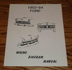 image is loading 1952-1953-1954-ford-car-wiring-diagram-manual-