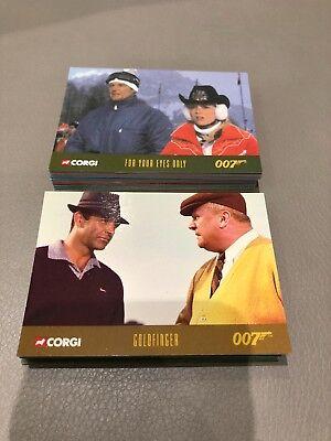 CORGI James Bond Promotional Set of 50 Cards VERY RARE! Inkworks