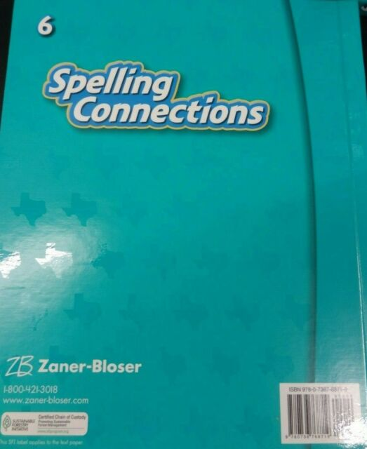 Zaner Bloser Spelling Connections Texas Grade 6 Student Textbook