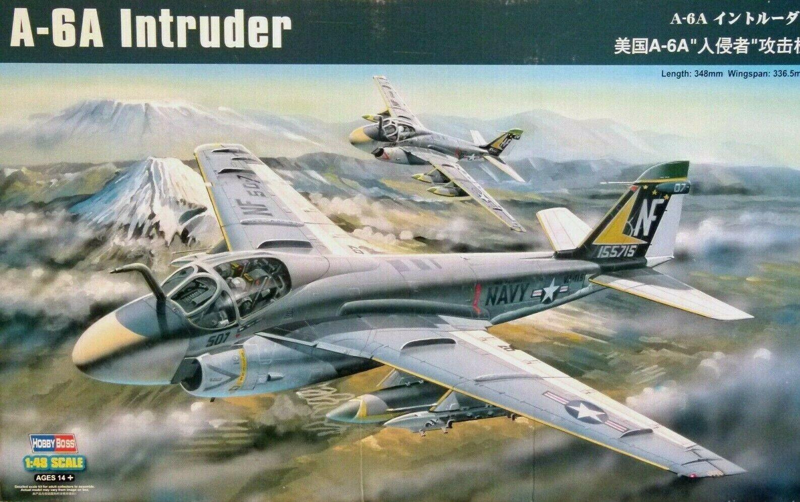 Hobbyboss 1 48 A-6A Intruder Aircraft Model Kit