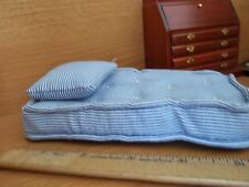 MINIATURE SINGLE MATTRESS WITH PILLOW -  DOLL HOUSE  MINIATURE
