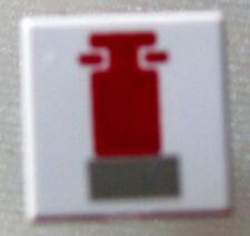 LEGO 3070bps1 @@ Tile 1 x 1 Red and Gray Mini Snowspeeder Pattern @@ 4486