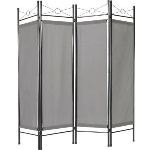 2x 4tlg Raumteiler Trennwand Paravent Umkleide Sichtschutz Spanische Wand Grau