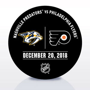 Philadelphia-Flyers-Issued-Unused-Warm-Up-Puck-12-20-18-Vs-Nashville-Predators