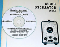 Hp 200ab Audio Oscillator Ops & Service(5 Manual Set)