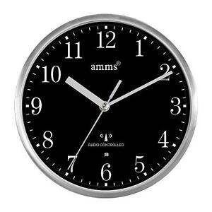 Compact-MSF-Signal-Radio-Controlled-Brushed-Aluminium-Metal-Cased-Wall-clock