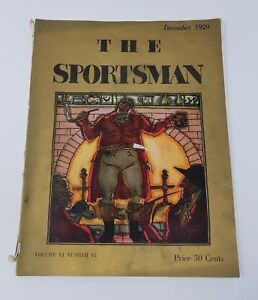 1929 Dec THE SPORTSMAN ILLUSTRATED Vintage Advertisements Cars Hunting Sports