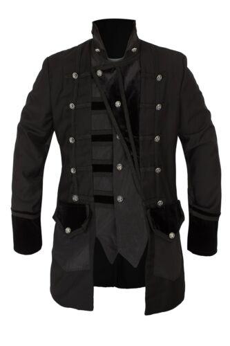 Uomo Giacca Steampunk Gothic di alta qualità costume colonia CARNEVALE 46-66