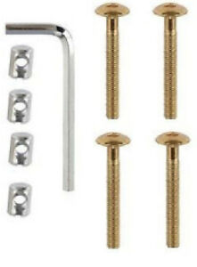 Screw & Nut Kit For Beds Cots Bed Cot Furniture M6 x 50mm Allen Key Included 4PK