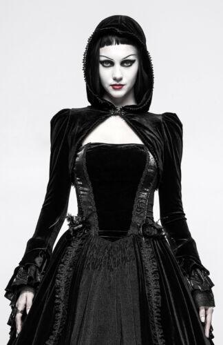 Baroque Veste Capuche Brodé Lolita Gothique Punkrave Velours Molletonné Boléro AqxwrA