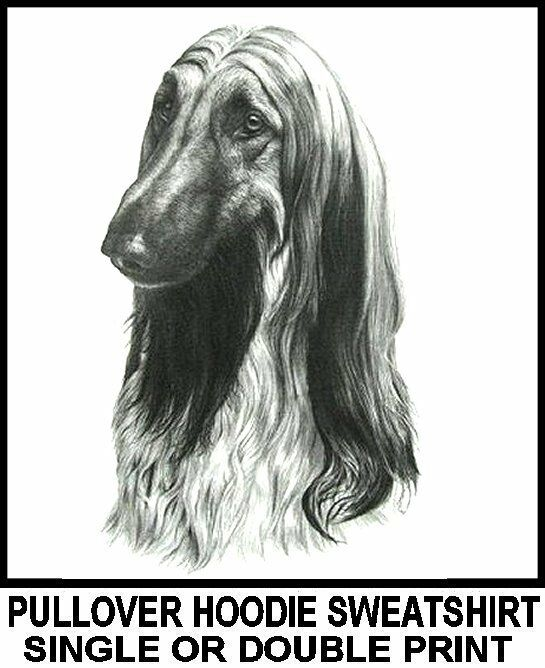 VERY COOL AFGHAN HOUND DOG PULLOVER HOODIE SWEATSHIRT 754
