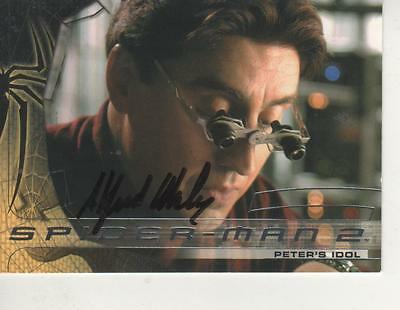 "Doctor Octopus Sophisticated Technologies Cards & Papers Alfred Molina Signed 2004 Upperdeck ""spiderman 2"" #13"