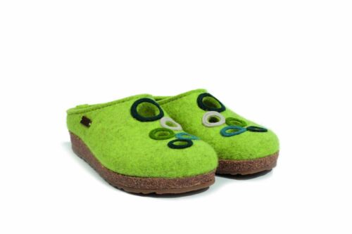 Haflinger Grizzly Bubble Hausschuh Damen Farbe canary green