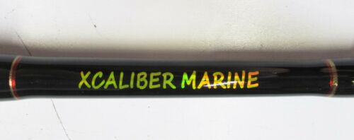 XCALIBER MARINE PAIR OF GOLIATH SERIES TROLLING ROD 80-130 LB RED AND GOLD