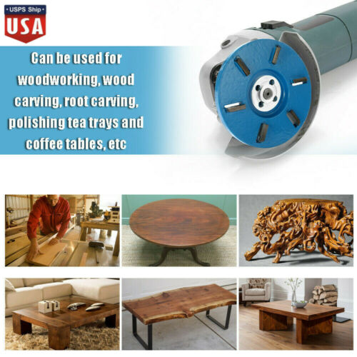 6 Teeth Wood Carving Disc Tool Milling Cutter for Open Aperture Angle Grinder US