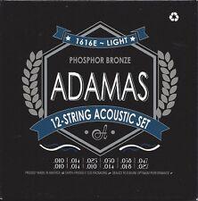 ADAMAS 1616E Akustik Gitarre Phosphor Bronze Saiten 12Saiten SATZ Guitar Strings